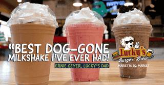 Best DogGone Milkshake = Lucky's Marietta