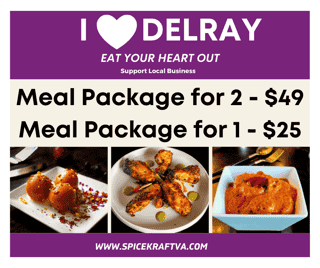 I LOVE DELRAY MEAL PACKAGE