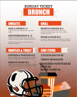 Sunday Brunch 10 am to 3 pm!