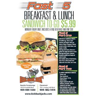 fast 5 breakfast & lunch