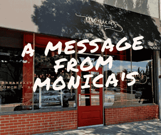 a message from Monica's