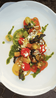 Home-Grown Heirloom Tomato & Watermelon Panzanella