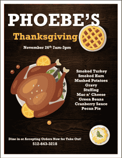 pheobe's thanksgiving