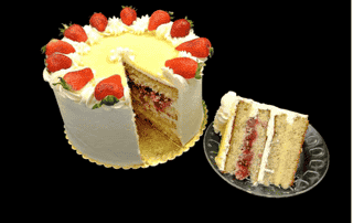 White Chocolate Strawberry Lemon Cake