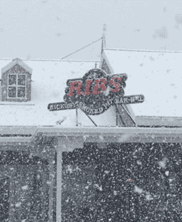 Snow Ribs Sign