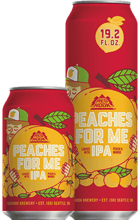 red hook peaches for me IPA 12 oz can