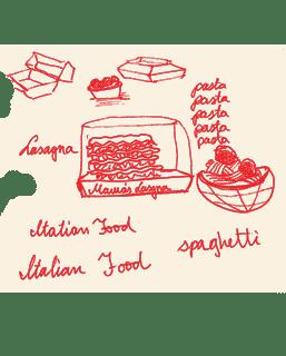 pasta drawing