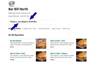 Bar-Bill Order Page