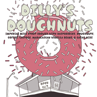 Dilly's Doughnuts Raspberry