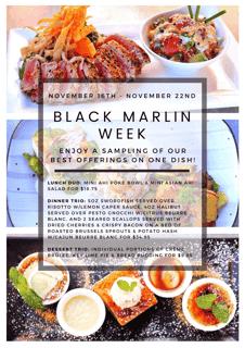 Black Marlin Week Menu