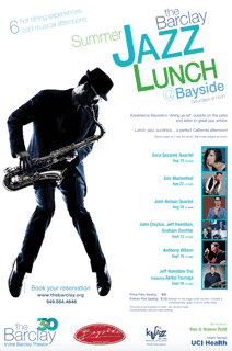 The Barclay Jazz Lunch Flyer