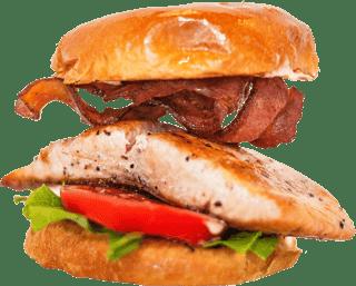 Captain's Plate Alaskan Salmon Sandwich