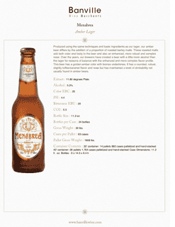 Menabrea Amber Lager