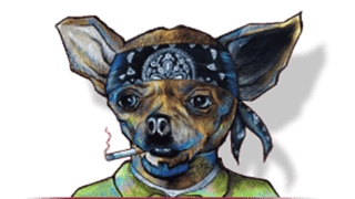 cien agaves hand drawn dog