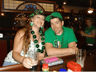 two people at bar