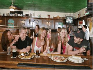 group at bar
