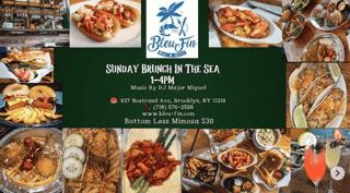 Seafood brunch