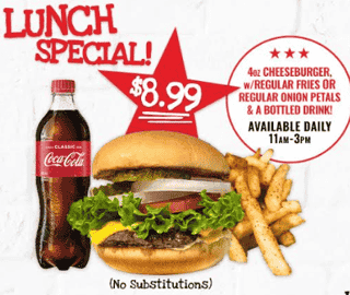 Lunch Special Cheeseburger