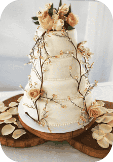 cake with branches