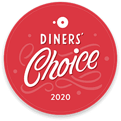 "2020 Opentable's Diner's Choice for ""Hot Spot"""