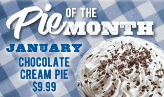 Pie of the Month - Chocolate Cream