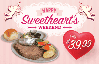 Sweethearts Weekend - Prime Rib Dinner for 2!