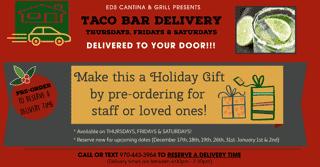 Christmas Taco Bar Delivery