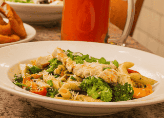 grilled chicken pesto primavera