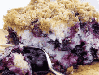 Michigan Blueberry Crumble Coffee Cake
