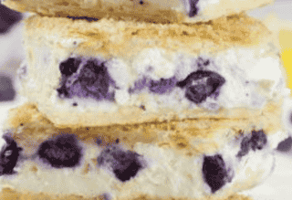 White Chocolate Blueberry Cheesecake Bar