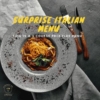 Surprise Italian Menu
