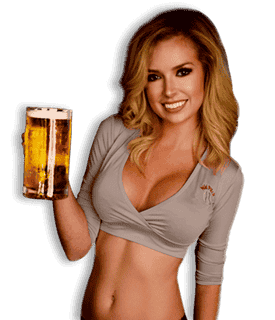 girl holding beer