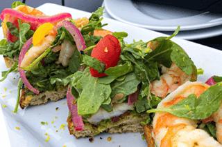 Marinated Shrimp Toast Bites