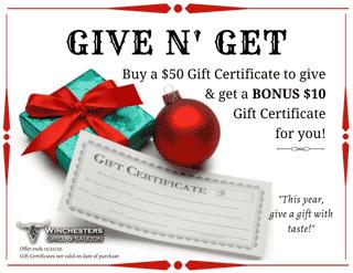 Give N Get Gift Certificate Bonus