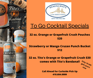 Cocktail Specials Memorial Day Weekend
