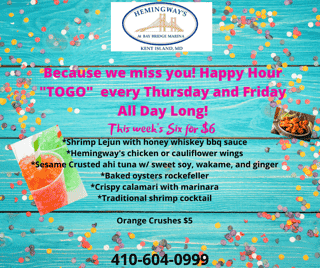 All Day Happy Hour Thursday & Friday's
