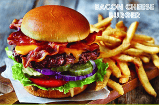 bacon cheseburger