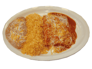 Your choice of Enchiladas