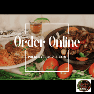 Online ordering fajita display