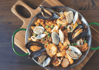 Paella Mixta - Our Take On a Spanish Classic W/ Regional Spices & Piquillo Pepper Sofrito.