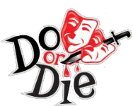 do or die logo with drama masks