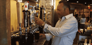 pouring a pint