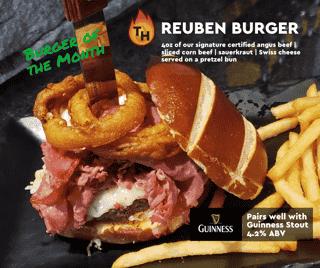 March Burger of the Month - Reuben Burger