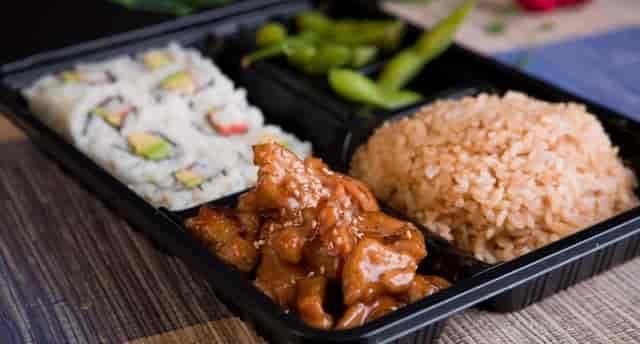 SOJ - Entree Meat Rice Vegetables Sushi