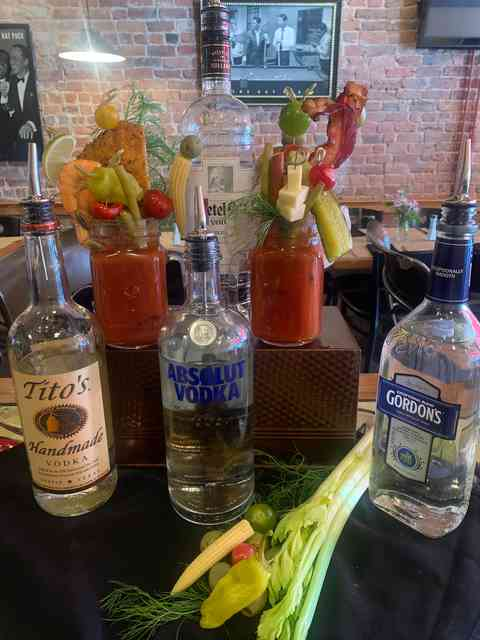 Bloody Mary's made with our amazing reciepe