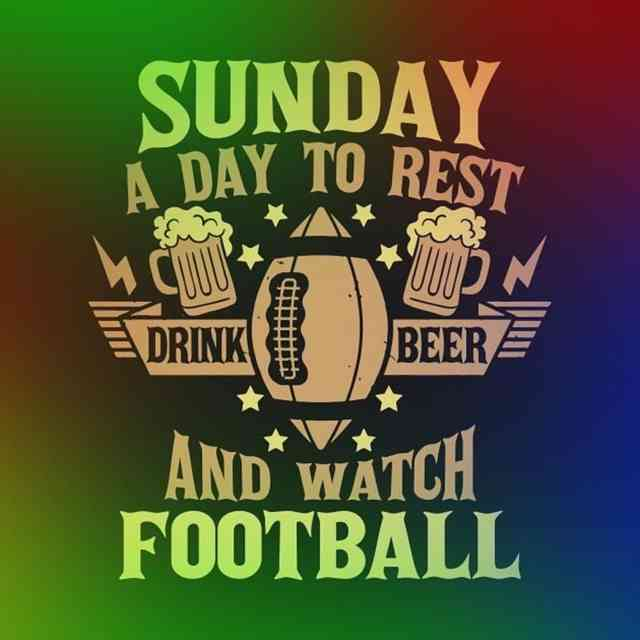 sunday a day to rest and for football