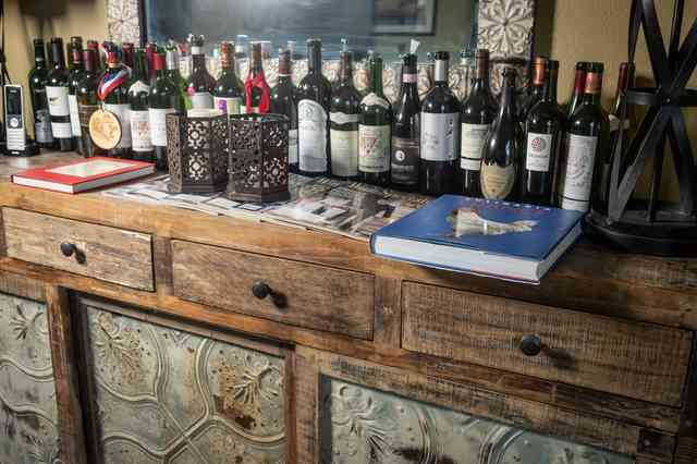 Bar with a variety of wine options