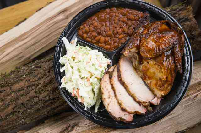 two smoked meat plate