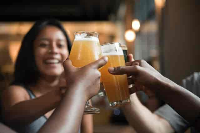 stock people cheers