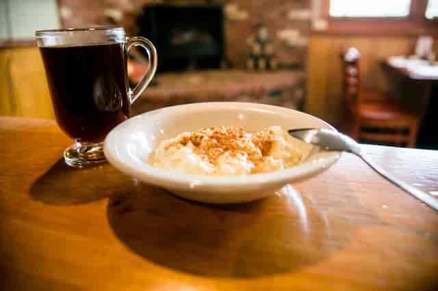 rice pudding & coffee